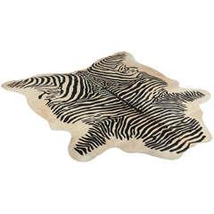 Zebra Printed Brazilian Cowhide