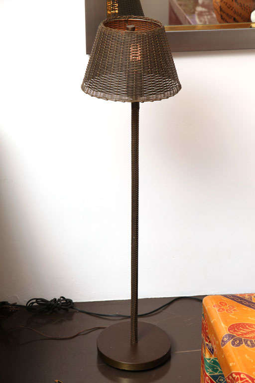 Woven Brass Floor Lamp By Peter Hansen At 1stdibs