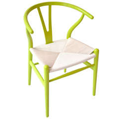 Iconic Hans Wegner Chair in New Chartreuse Color