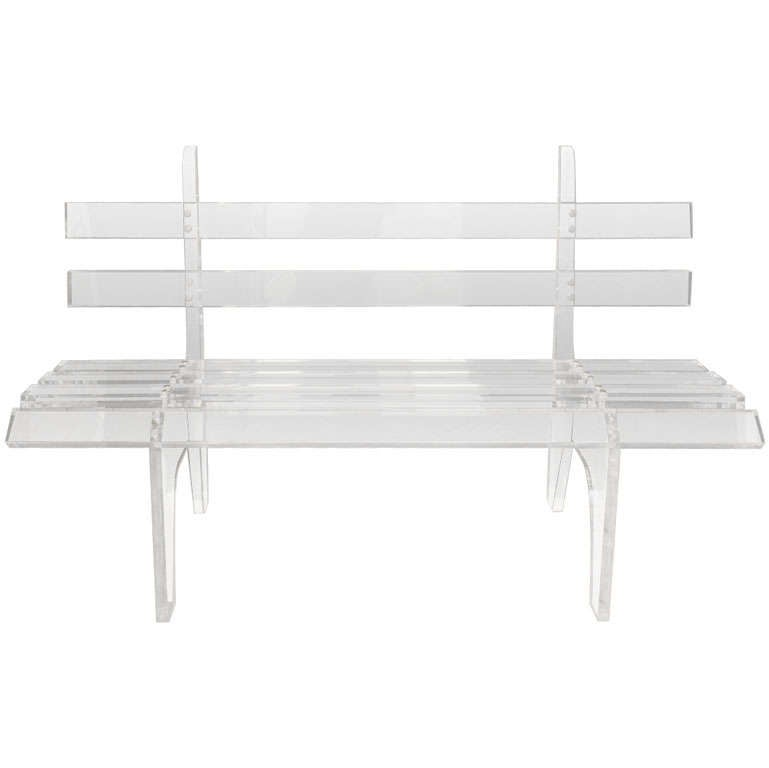 Lucite Park Bench At 1stdibs