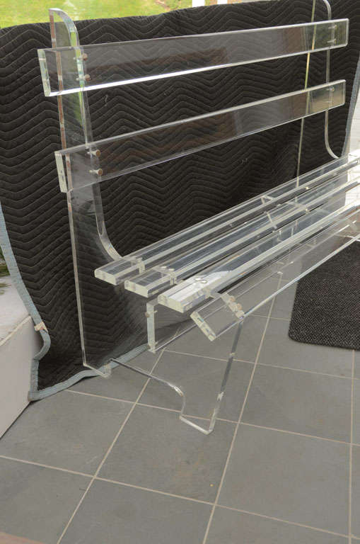 American Lucite Bench For Sale