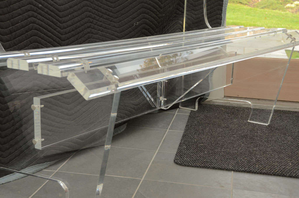 Mid-20th Century Lucite Bench For Sale