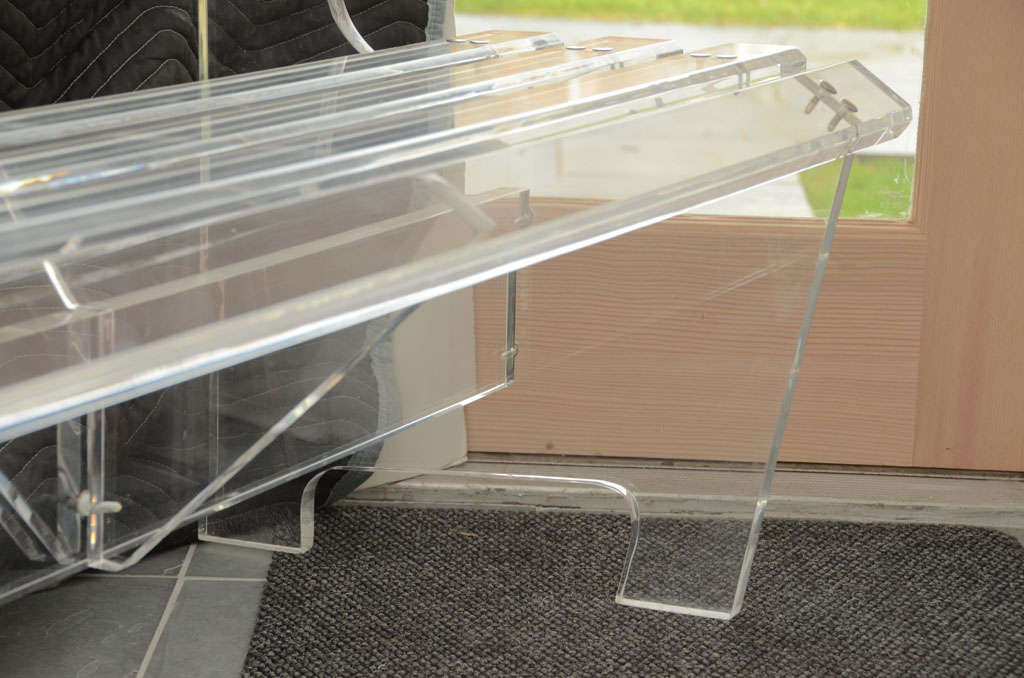 Lucite Bench For Sale 1