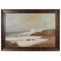 Italian Seascape Painting, Circa 1950