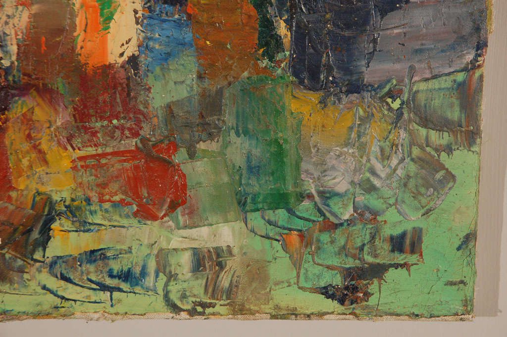 Mid-20th Century French Abstract Seascape Painting, Circa 1930 For Sale