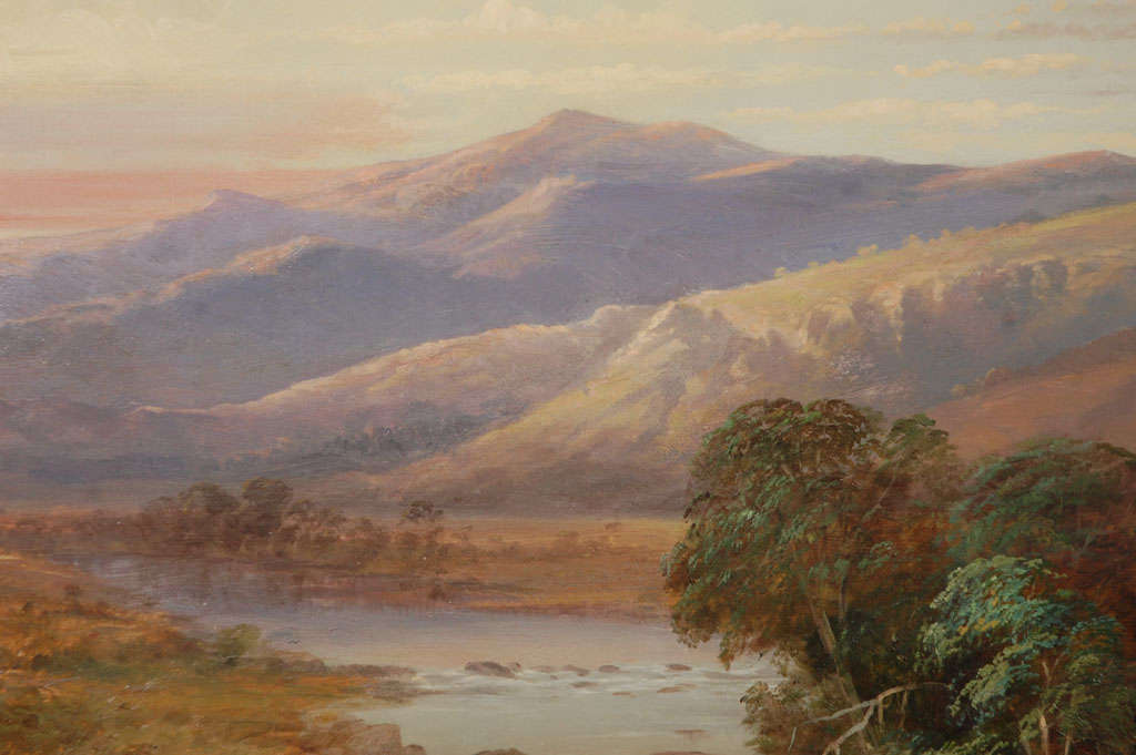 20th Century Scottish Mountain Landscape Painting, Circa 1800 For Sale
