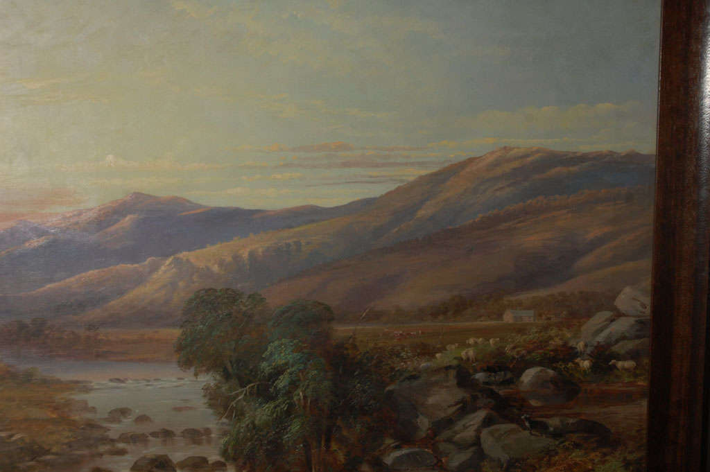 Scottish Mountain Landscape Painting, Circa 1800 For Sale 2
