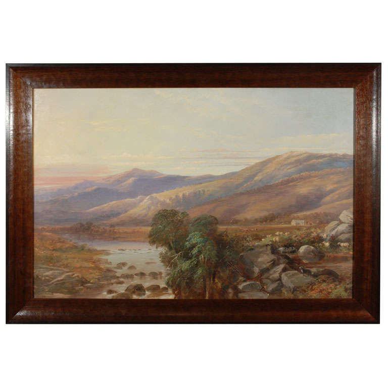 Scottish Mountain Landscape Painting, Circa 1800 For Sale