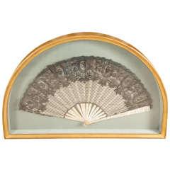 Lace and Gauze Fan