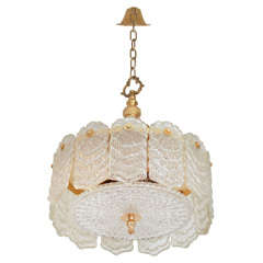 Decorative Glass Chandelier by Camer