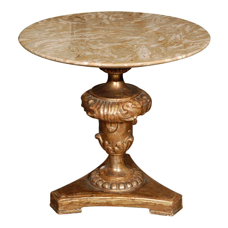 18th Century Italian Gilded Table Base