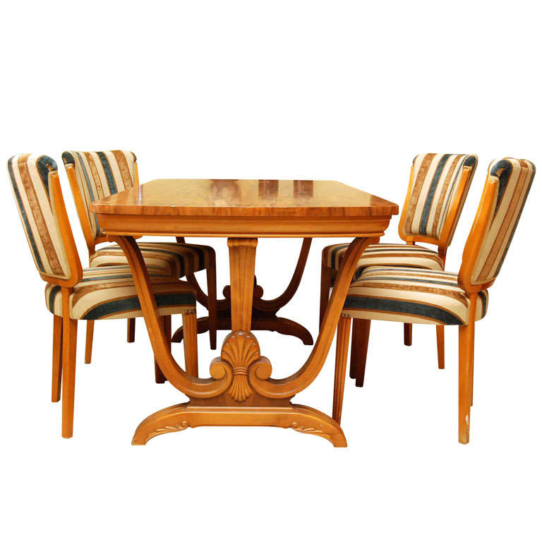 Art deco dining set at 1stdibs for Dining room paintings sale