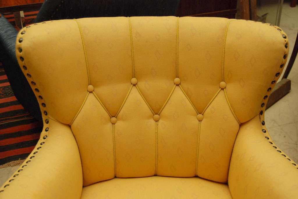 Pair of Yellow Club Chairs 6