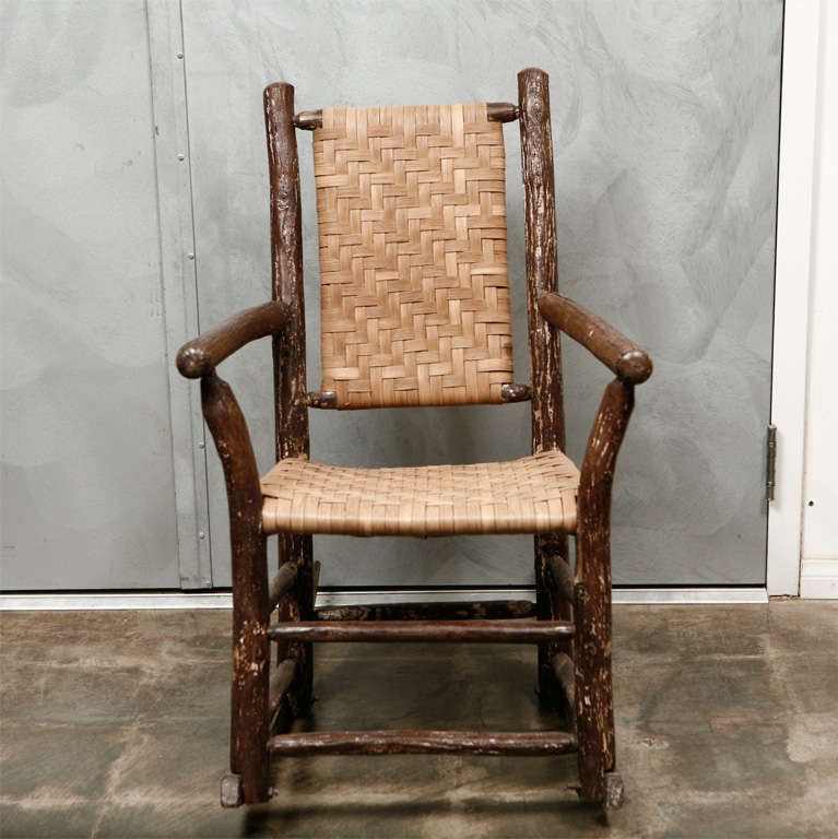 Antique Hickory Rocking Chair At 1stdibs - Antique Hickory Furniture - Image Antique And Candle Victimassist.Org