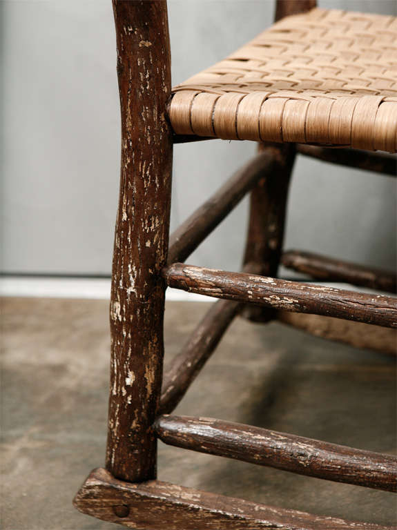 Antique Hickory Rocking Chair At 1stdibs