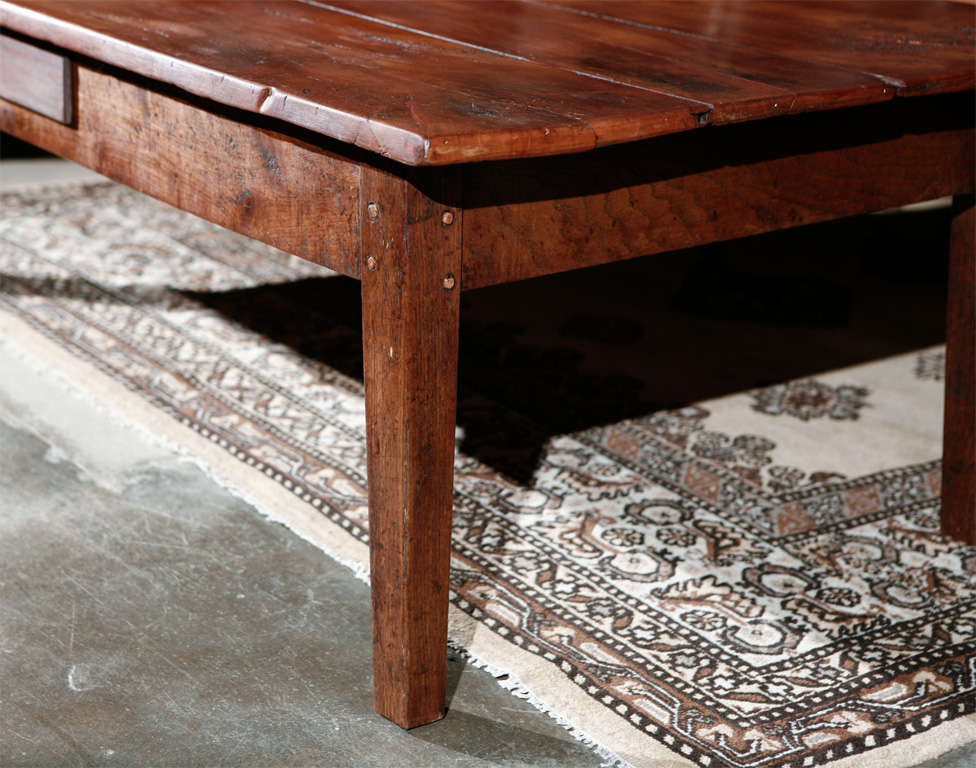 Antique Fruitwood Table As A Large Coffee Table At 1stdibs