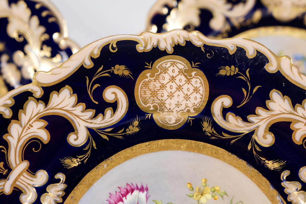 Porcelain Set of 12 Cauldon Hand-Painted