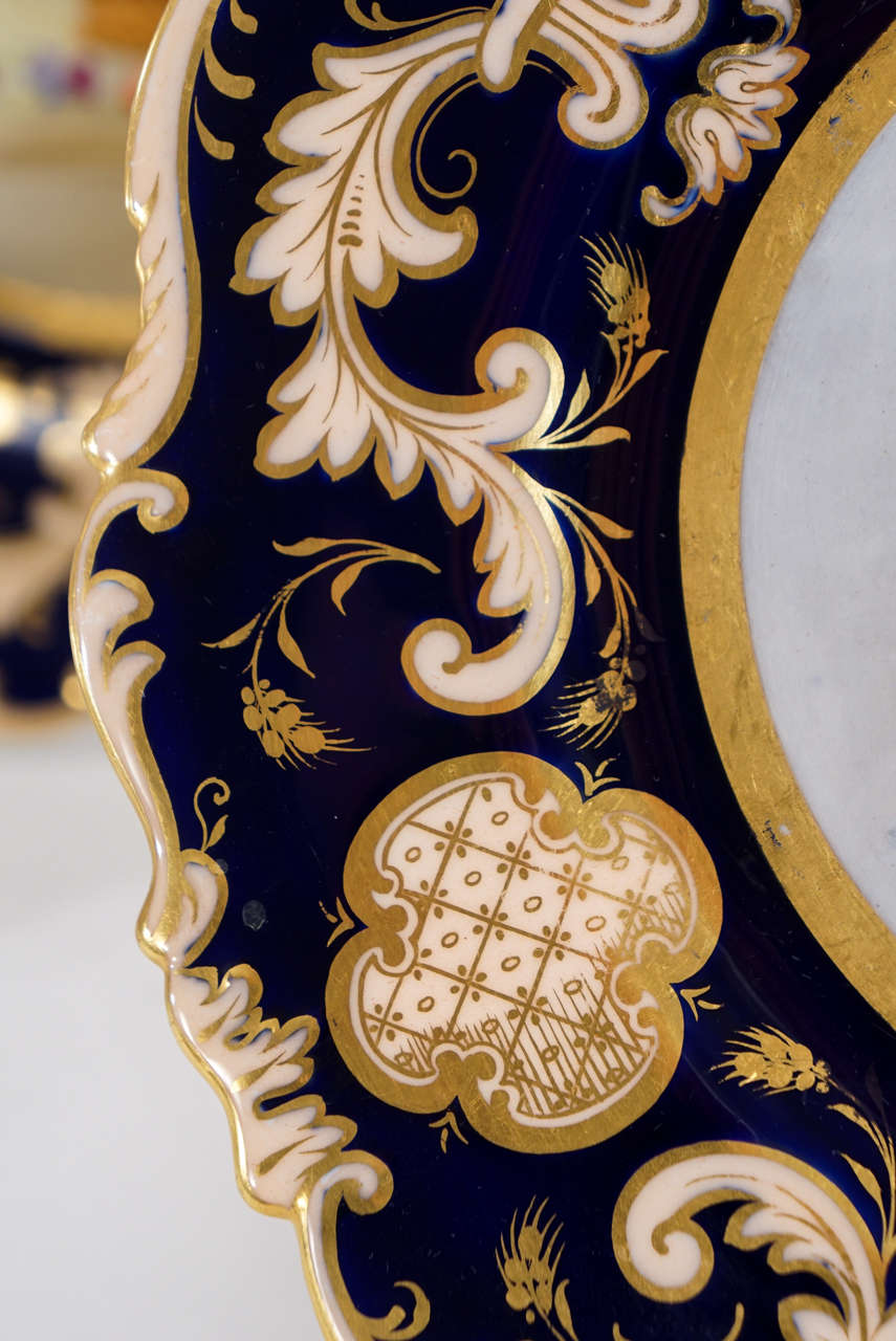 Set of 12 Cauldon Hand-Painted