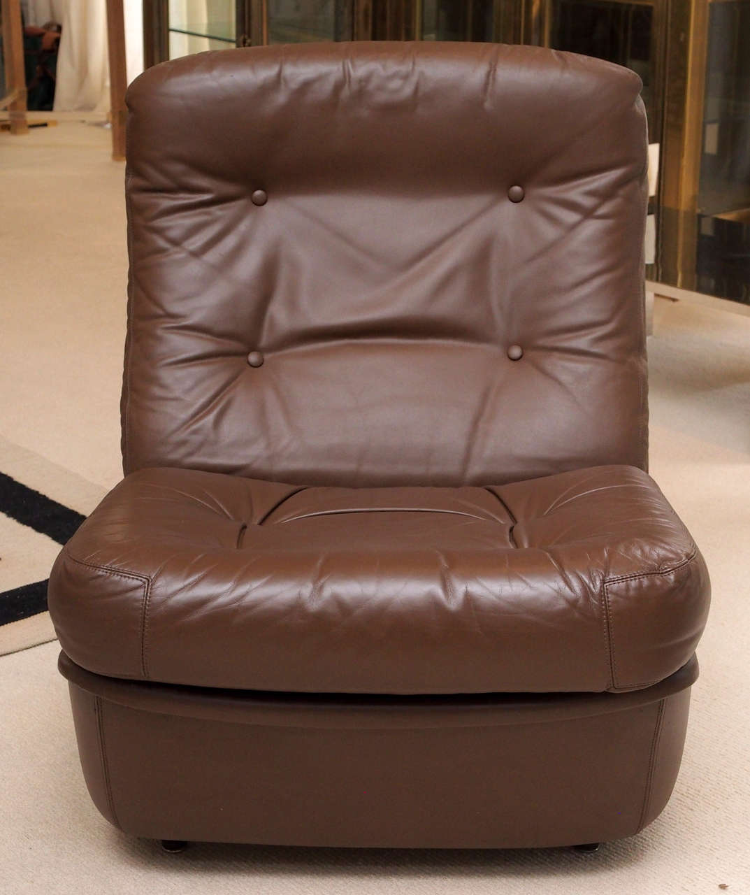Saturday Sale Pair of Leather Lounge Chairs by Airborne International 2