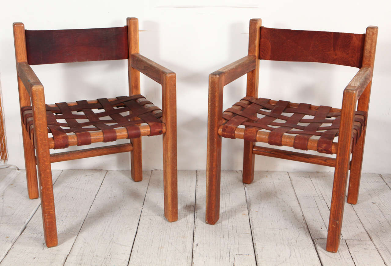 Amazing Set Of Six Wood And Woven Saddle Leather Dining Chairs At Ibusinesslaw Wood Chair Design Ideas Ibusinesslaworg
