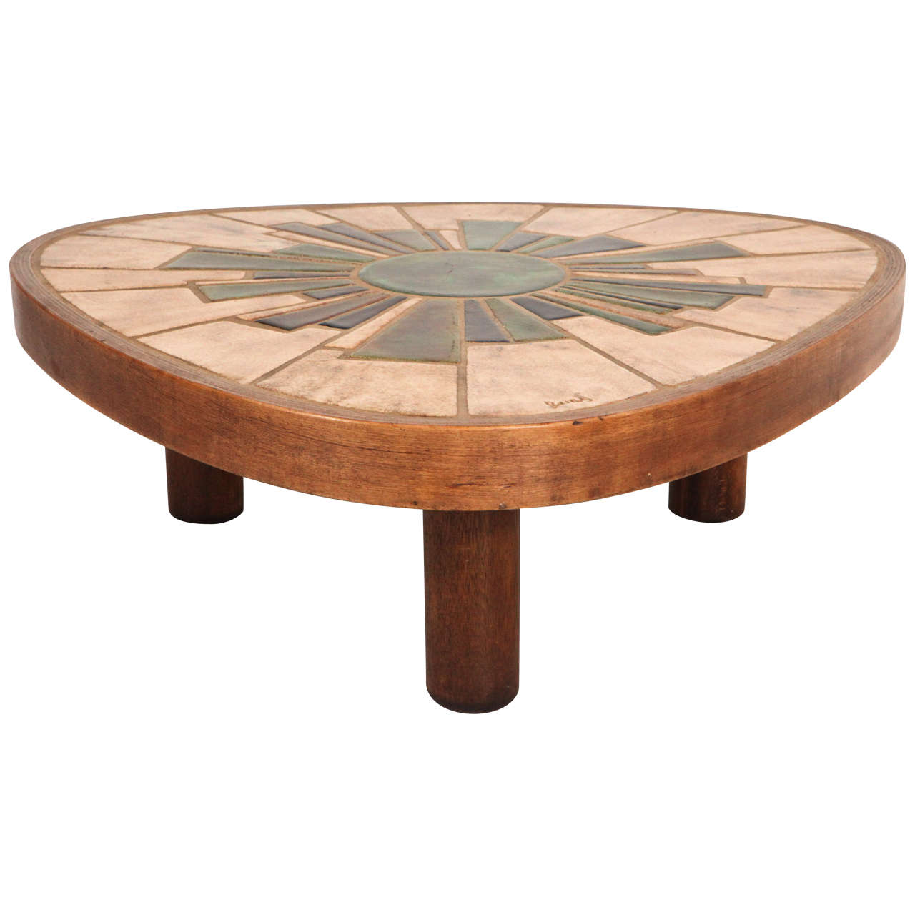 1970s Tile Coffee Table Signed Barrois At 1stdibs