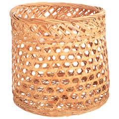 Round Woven Wood Basket