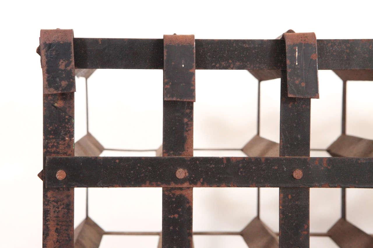 Vintage Metal Wine Bottle Rack 6