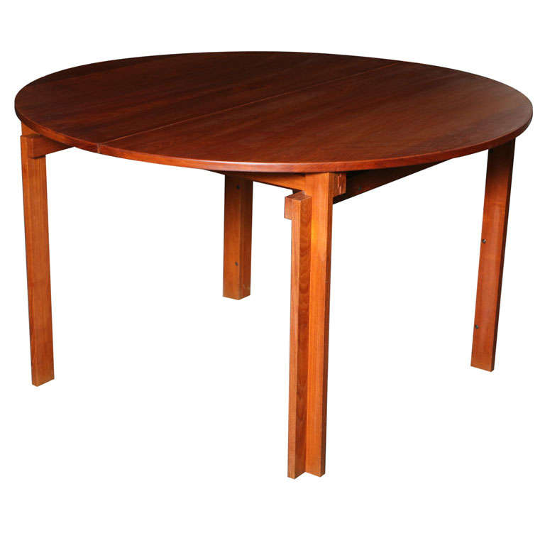 Solid Round Teak Dining Table by Kai Kristiansen at 1stdibs : x from www.1stdibs.com size 768 x 768 jpeg 29kB
