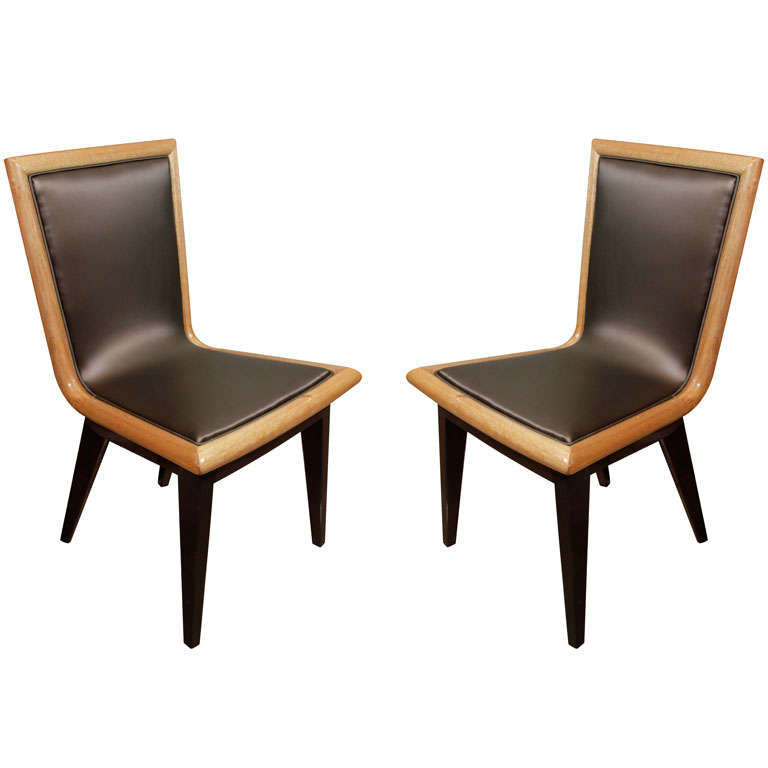 Set of Ten Dining Chairs by James Mont 1