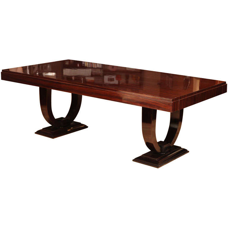 Superb art deco dining table at 1stdibs - Art deco dining room table ...
