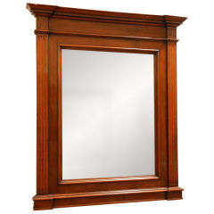 Handsome Neoclassical Walnut Framed Wall Mirror from Late 19th Century France