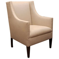 """""""Edward"""" by Lee Stanton Armchair Upholstered in Belgian Linen or Custom Fabric"""