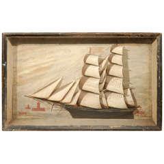 An English Ship Diorama, Circa 1870