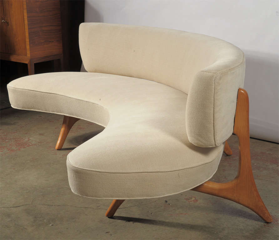 Curved Floating Sofa: Floating Back And Seat At 1stdibs