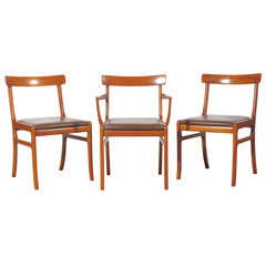 Ole Wanscher Dining Chairs, Set of Six