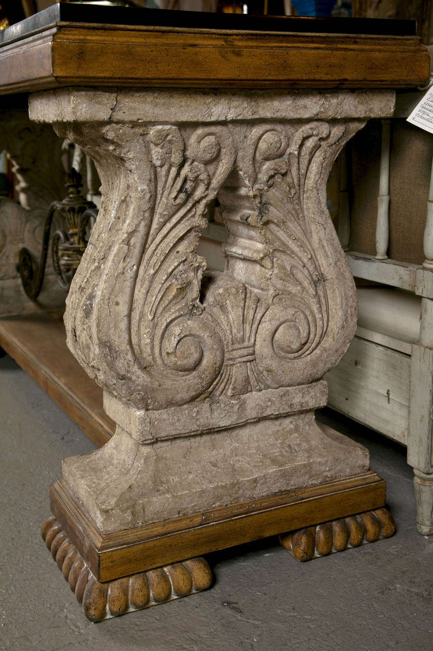 Spanish colonial style stone top console table at 1stdibs spanish colonial style stone top console table 3 geotapseo Gallery
