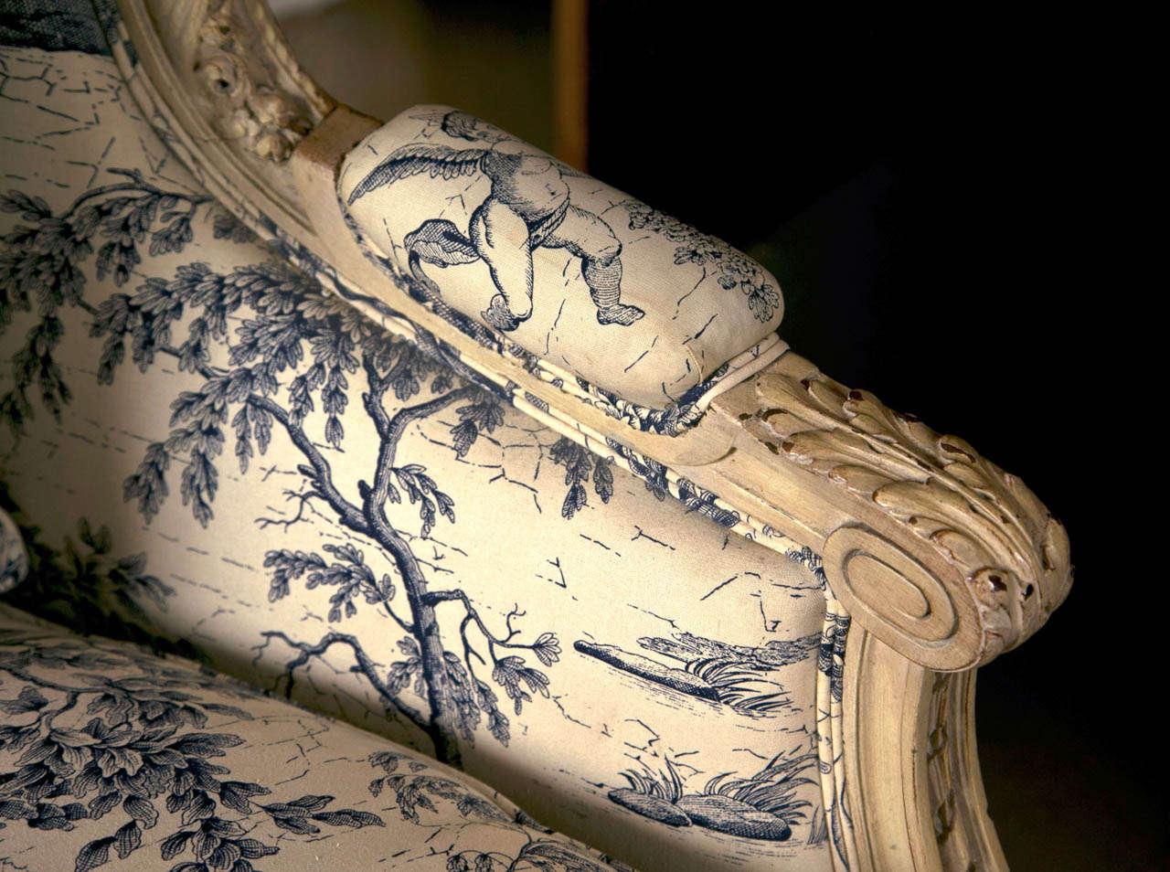 19th Century 19th C. Antique French Wingback Bergere Chair