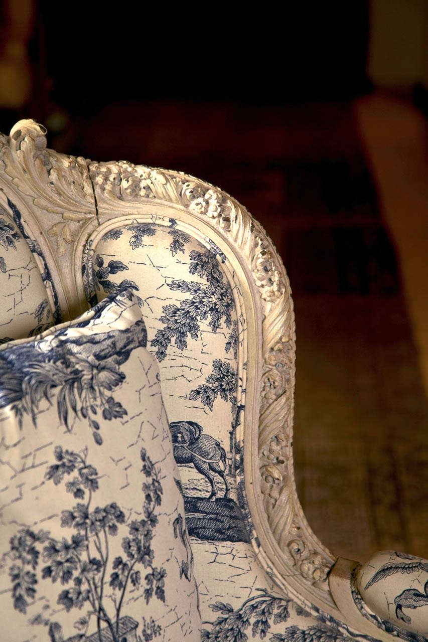19th C. Antique French Wingback Bergere Chair 1