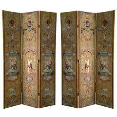 Pair of Renaissance Revival Style Screens