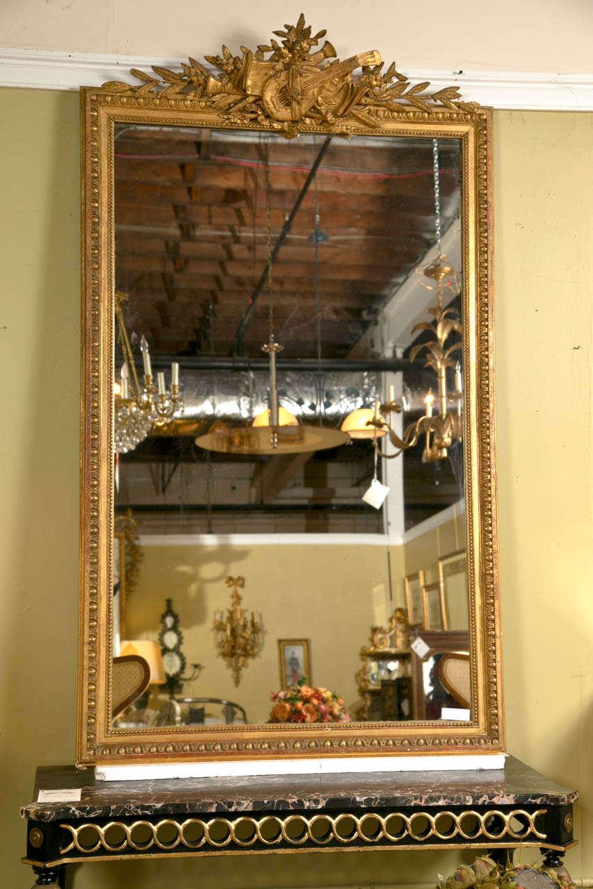 French louis xvi style gilt frame mirror at 1stdibs for Mirror frame styles