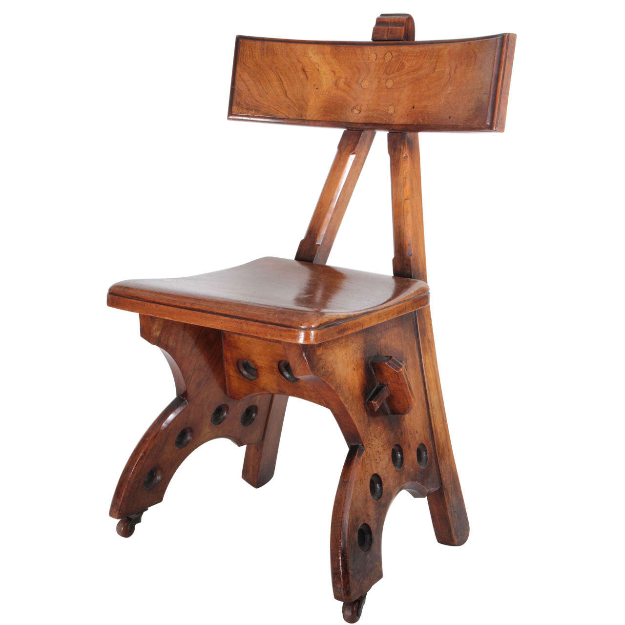 Arts and crafts furniture chair - Edward Welby Pugin Granville Early Arts And Crafts Walnut Chair C 1870 At 1stdibs