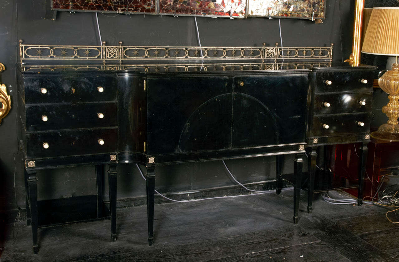 black lacquer 1940 39 s dining room buffet at 1stdibs