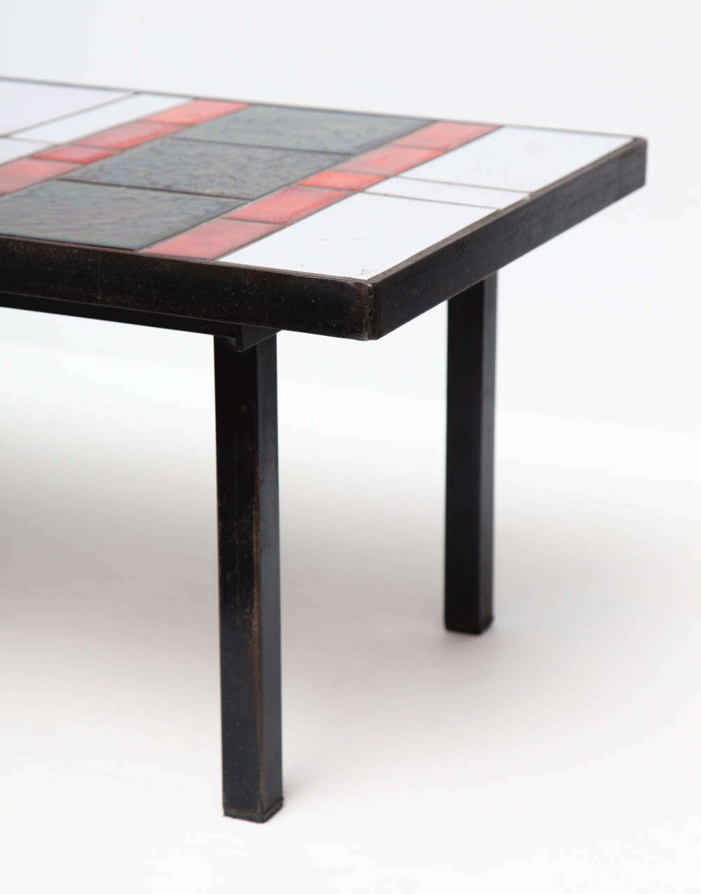 Glazed Ceramic Tile Coffee Table For Sale At 1stdibs