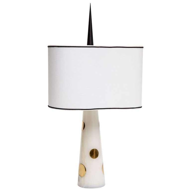 "Achille Salvagni ""Nemo"" Onyx and Bronze Table Lamp, Italy, 2013 For Sale"