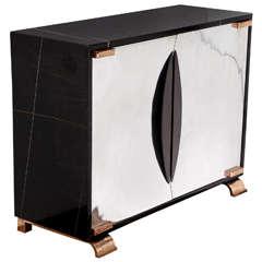 """""""Shield"""" Noir Doré Marble Cabinet by Achille Salvagni"""