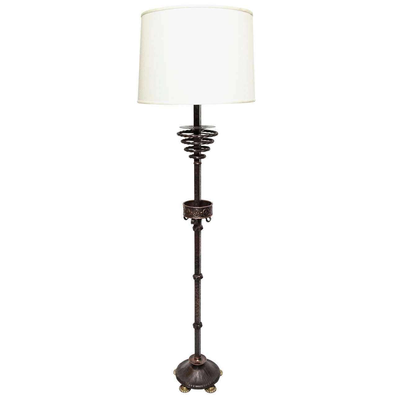 1920s art deco patinated bronze floor lamp for sale at 1stdibs for 1920s floor lamps
