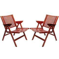 "Pair of ""Rex"" Chairs Designed by Niko Kralj, Denmark, 1952"