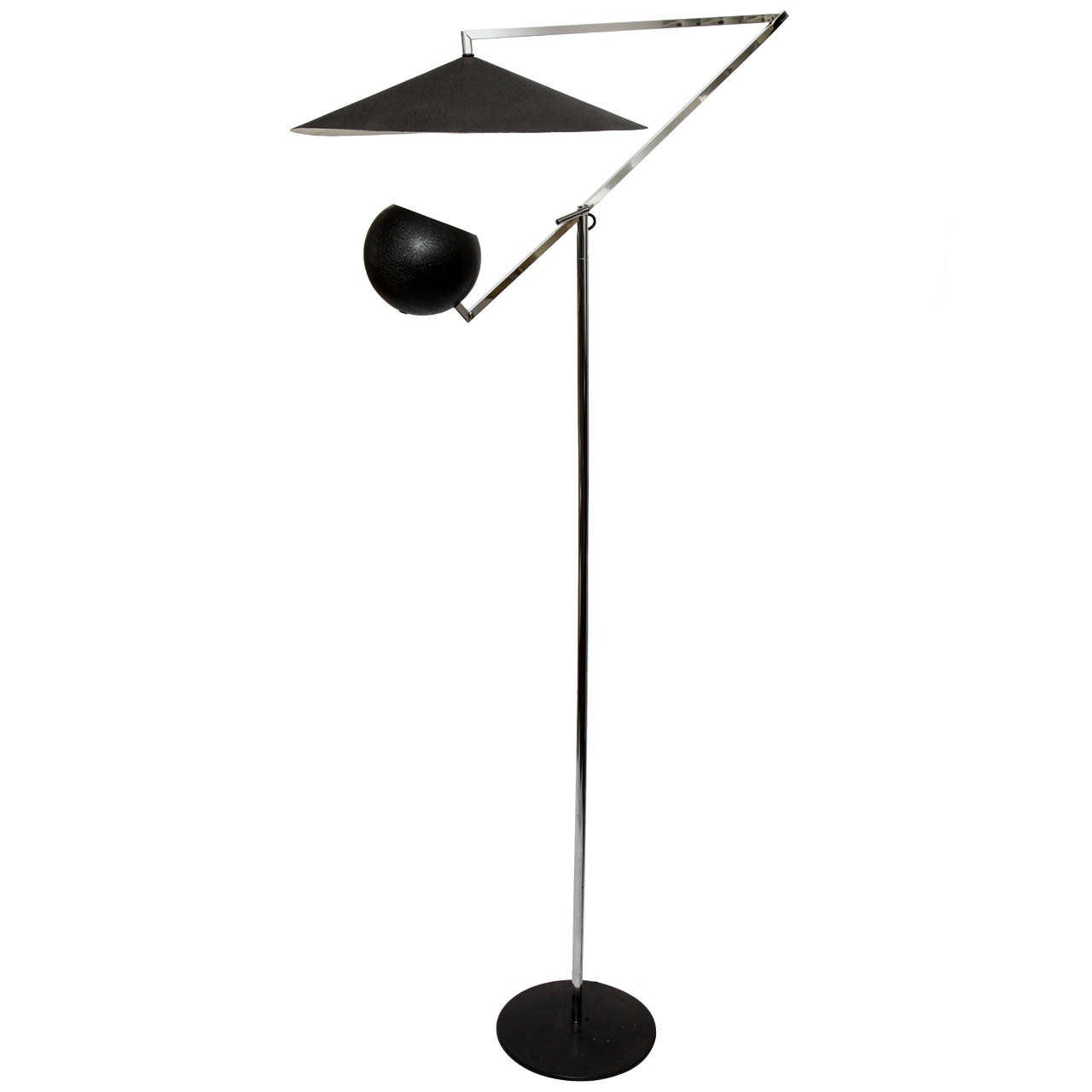 A 196039s articulated floor lamp by robert sonneman at 1stdibs for Led articulated floor lamp