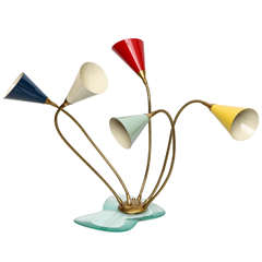 Italian 1950s Articulated Table Lamp