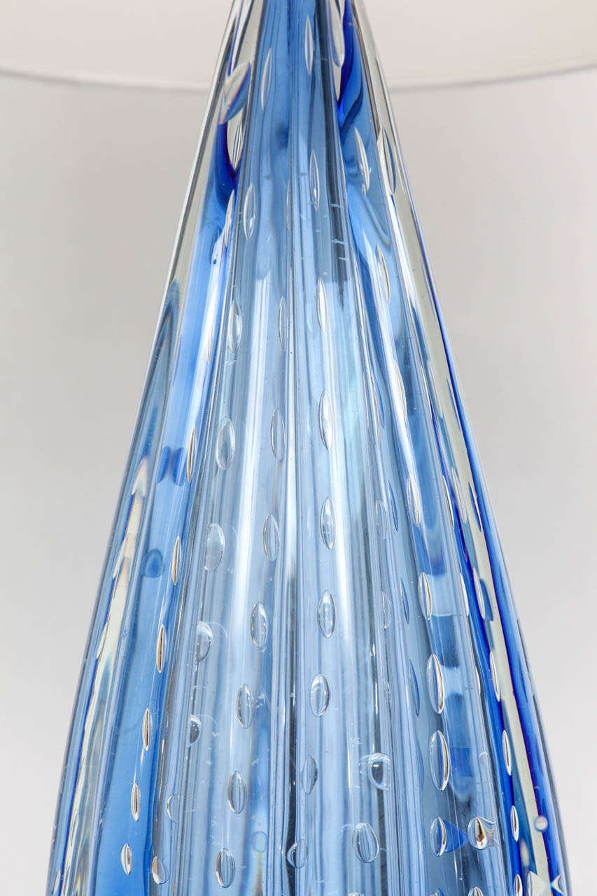 1950s Italian Art Glass Table Lamp by Barovier Toso For Sale 3